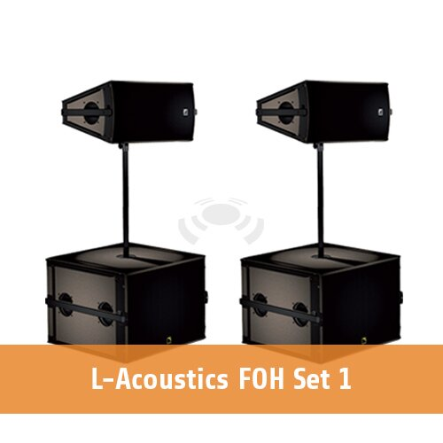 L-Acoustics FOH set 1 [2 x ARCS WIDE + 2 x SB18 + 1 x LA4X]