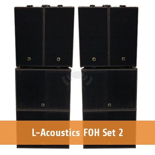 L-Acoustics FOH set 2 [2 x ARCS WIDE & FOCUS + 4 x SB18 + 1 x LA8]