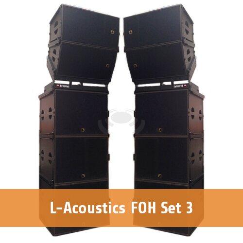 L-Acoustics FOH set 3 [2 x ARCS WIDE & FOCUS + 6 x SB18 + 2 x LA8]