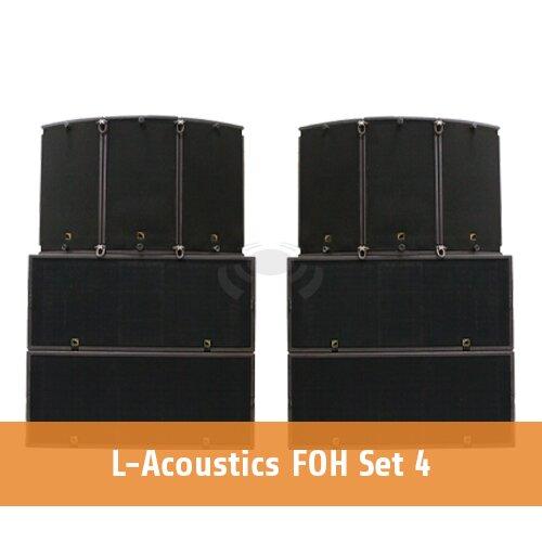L-Acoustics FOH set 4 [6 x ARCS1 & FOCUS + 4 x SB28+ 2 x LA8]