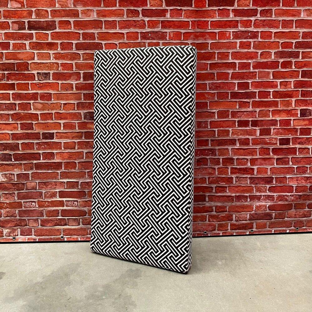 Loungekussen zwart/wit [120*60*8(H)cm]